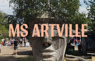 Stencil-Workshop auf dem MS ARTVILLE 2019